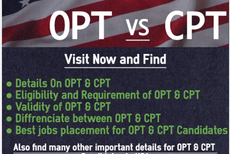 OPT Jobs VS CPT Jobs Infographic