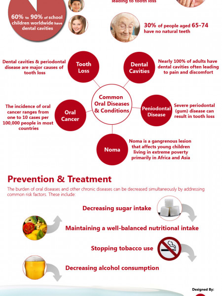 Oral Health Factsheet Infographic