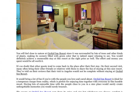 Orchid Inn Resort: Create a memorable and relaxing stay Infographic