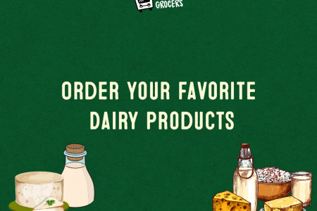 Order Your Favorite Dairy Products The Colony,Texas - MyHomeGrocers Infographic