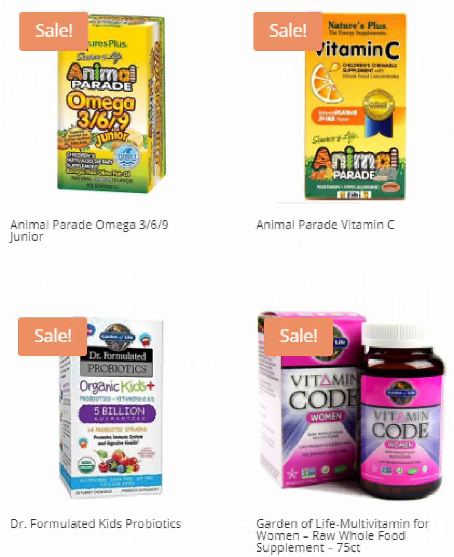 Organic Vitamin & Supplement Store Infographic