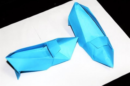 Origami High Heels Design (Shoes) | How to Make Paper Shoes | Origami Shoes Infographic