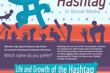 Origin of the #Hashtag in Social Media  Infographic