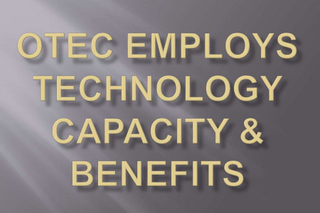 OTEC employs technology capacity & Benefits by Jeremy Feakins Infographic