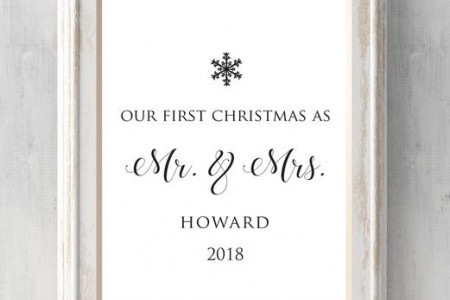 our first christmas personalized print personalized with year and names christmas gift newlywed