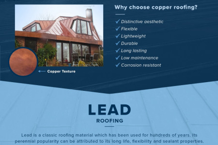Our roofing materials and systems explained: zinc, copper, lead and single ply membrane Infographic