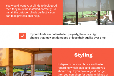 Outdoor Blinds - Important Factors You Must Consider Infographic