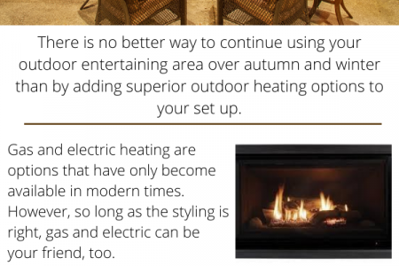 Outdoor Heating Ideas to Suit a Rustic Decor Infographic