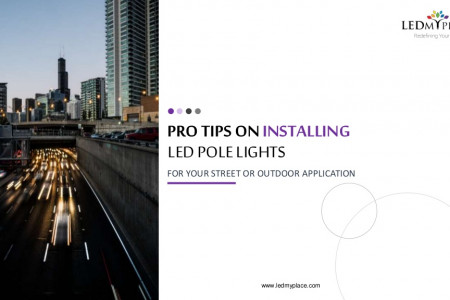 Outdoor LED Pole Lights For Outdoor Lighting Infographic