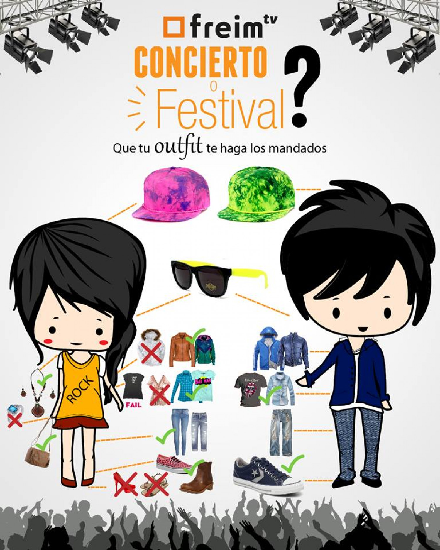 Outfit for Festival and concerts Infographic