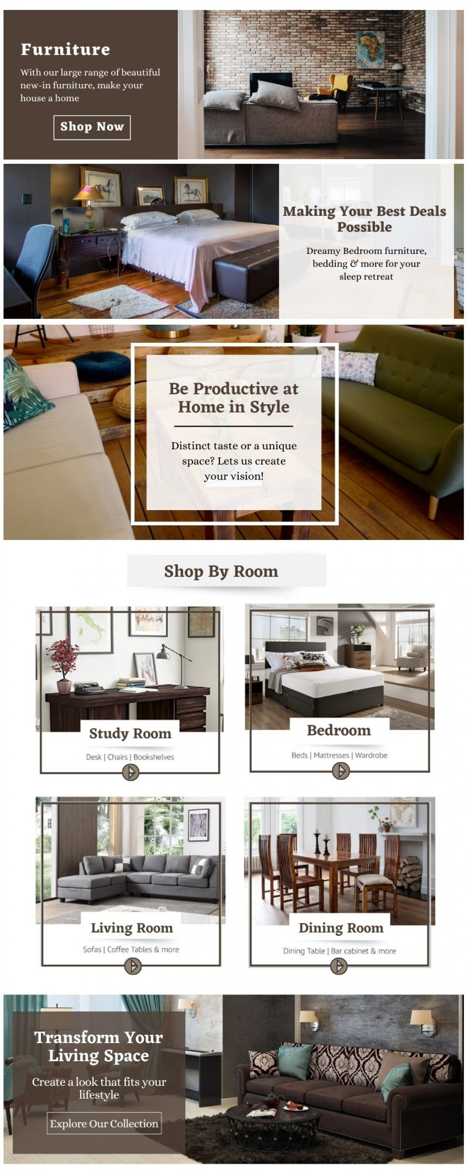 Outfit Your Home With Stylish Furniture Infographic