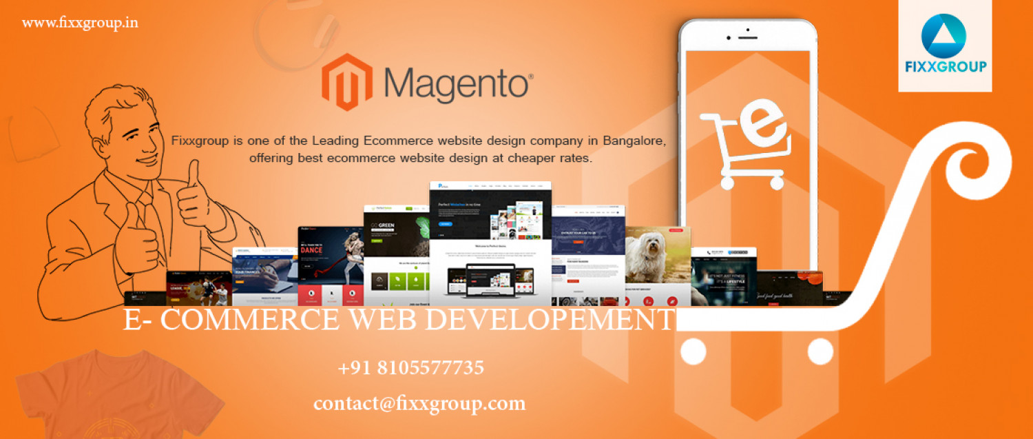 Outsource magento ecommerce services India Infographic