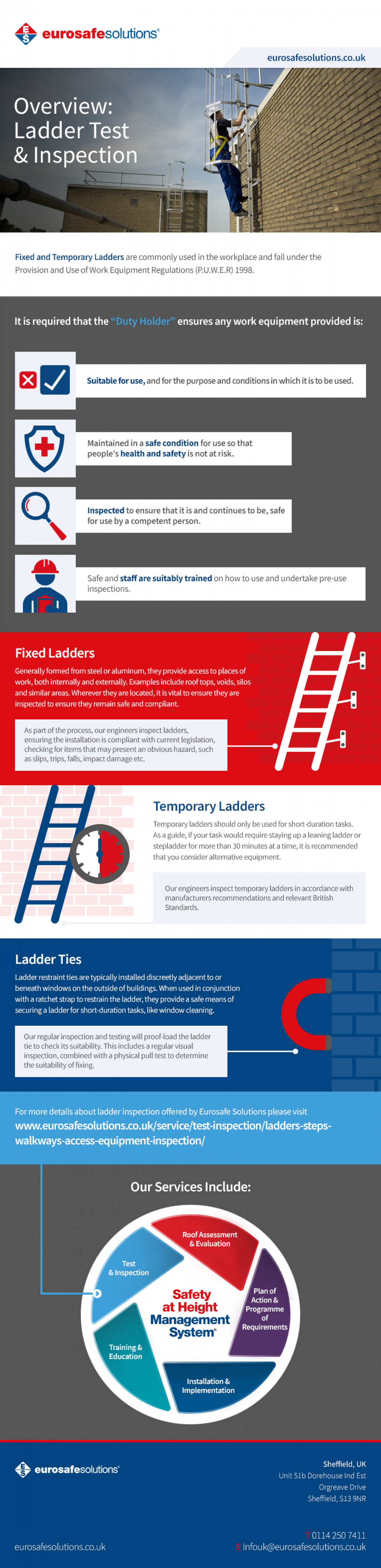 Overview: Ladder Test & Inspection Infographic