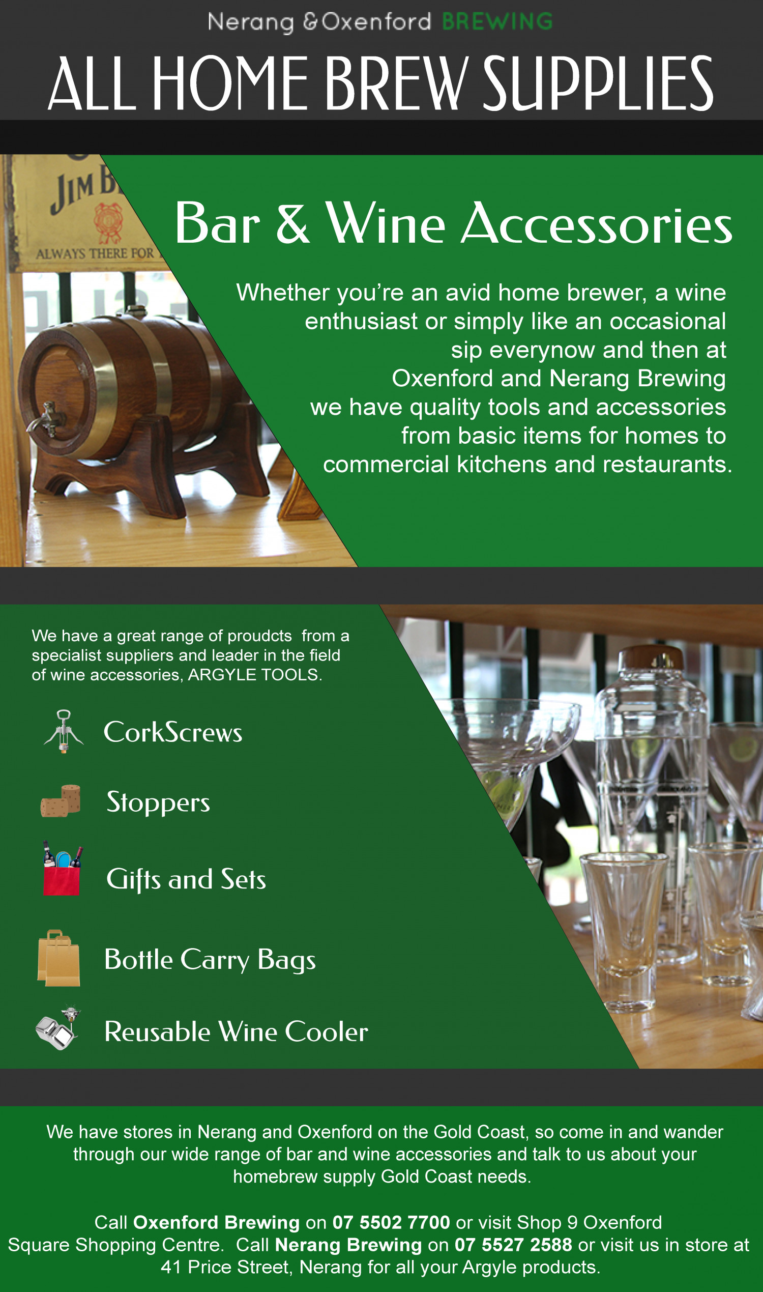 Oxenford Brewing - Bar and Wine Accessories