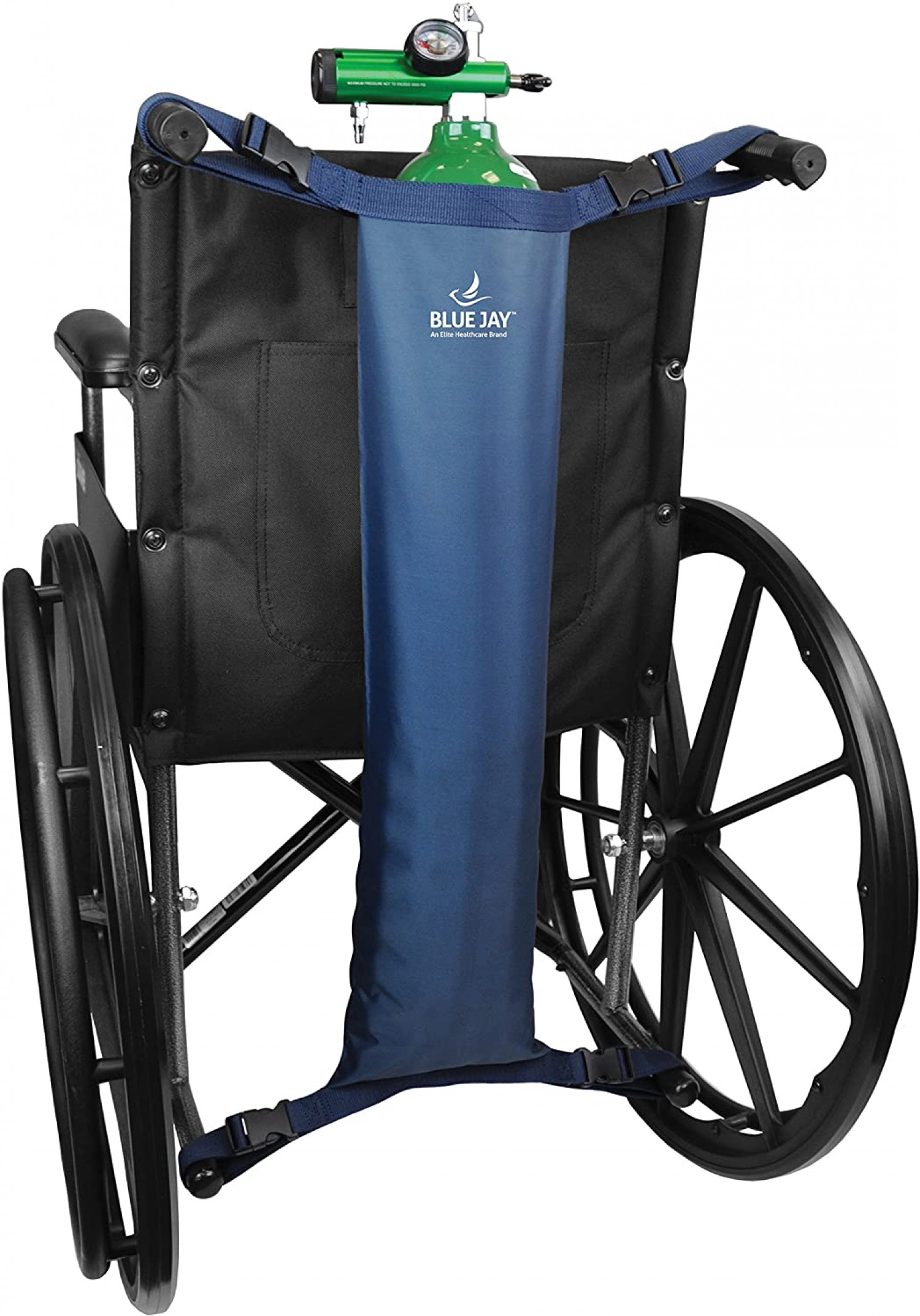 Oxygen Tank for Wheelchairs - Suits Most Wheelchairs - Adjustable & Easy to Install Infographic
