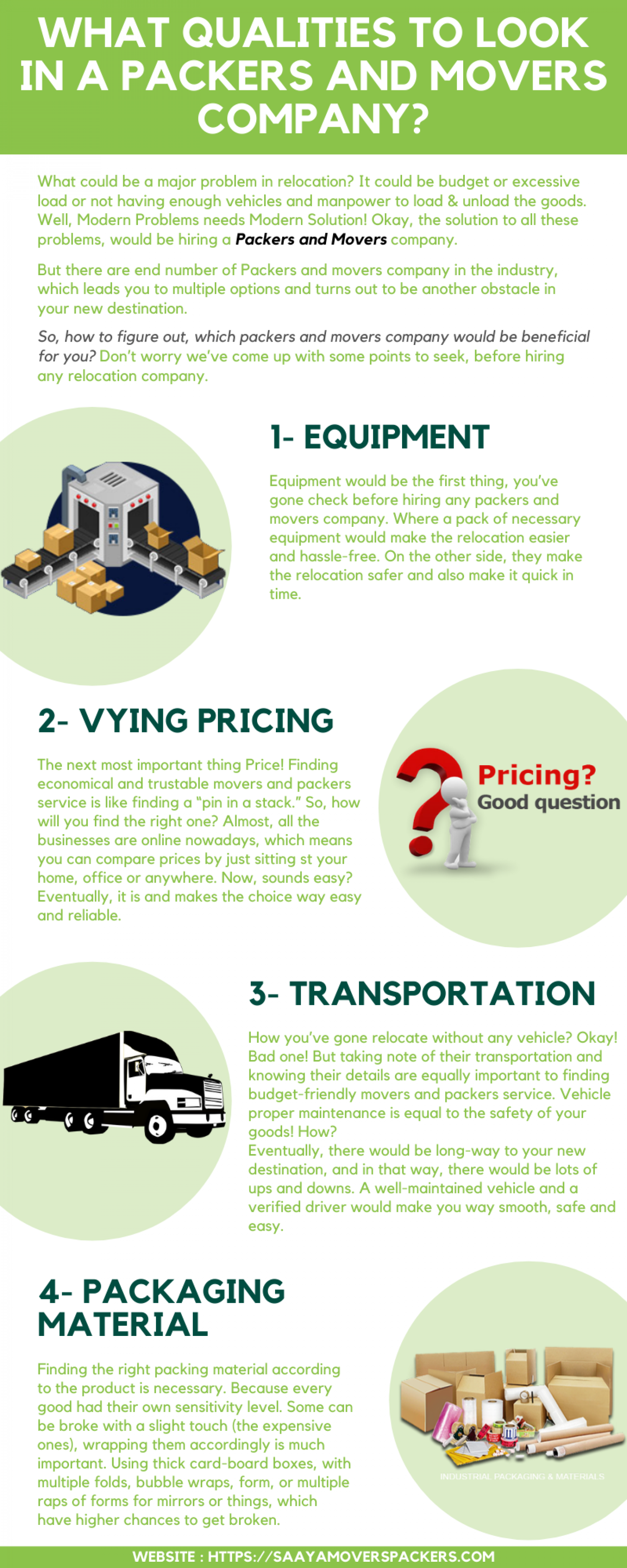 Packers and Movers    Saaya Movers and Packers  Infographic