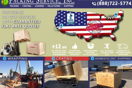 Packing Service, Inc. is the Uber of Moving and Shipping! Infographic