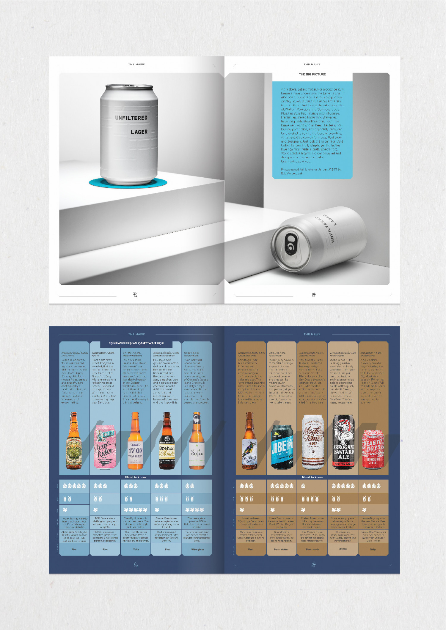 Page layouts for print magazine Infographic