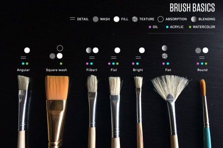 Paint Brush Basics Infographic