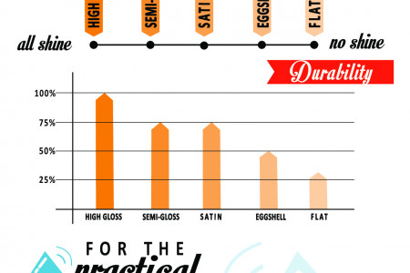 Paints sheens Infographic