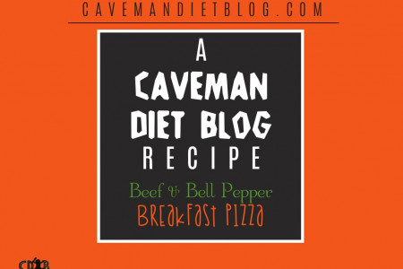 Paleo Beef & Bell Pepper Breakfast Pizza Infographic
