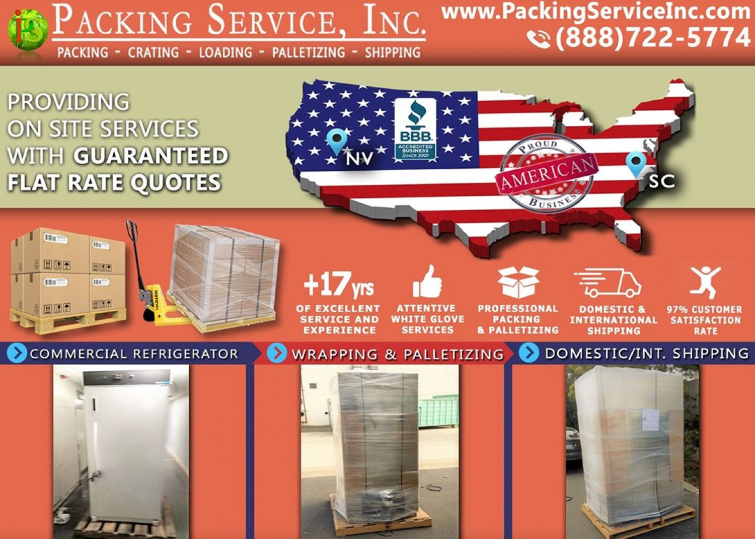Palletizing and Crating Services Infographic