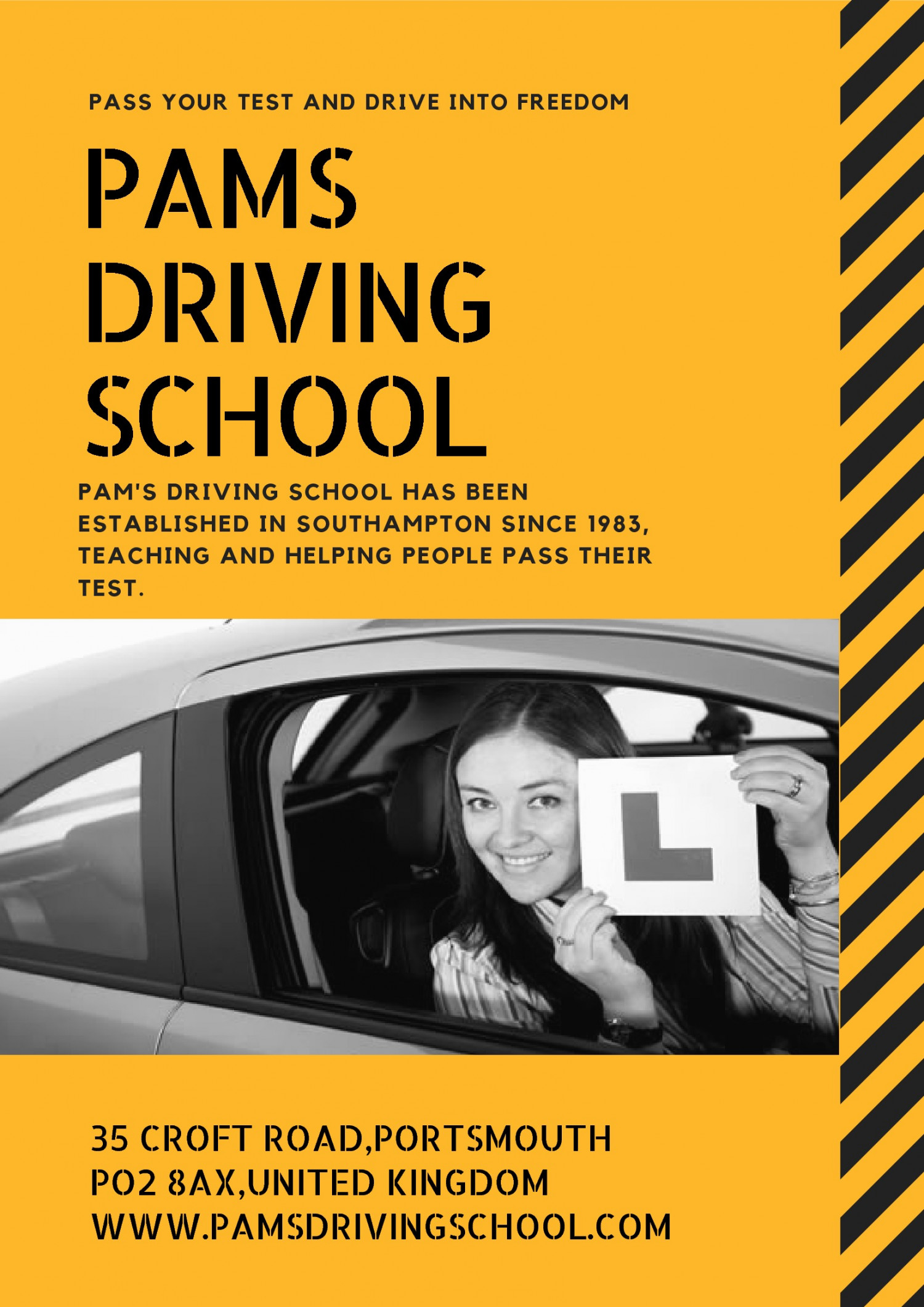 PAM'S DRIVING SCHOOL Infographic