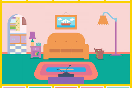 Pantone Colour of the Year In The Simpsons Living Room Infographic
