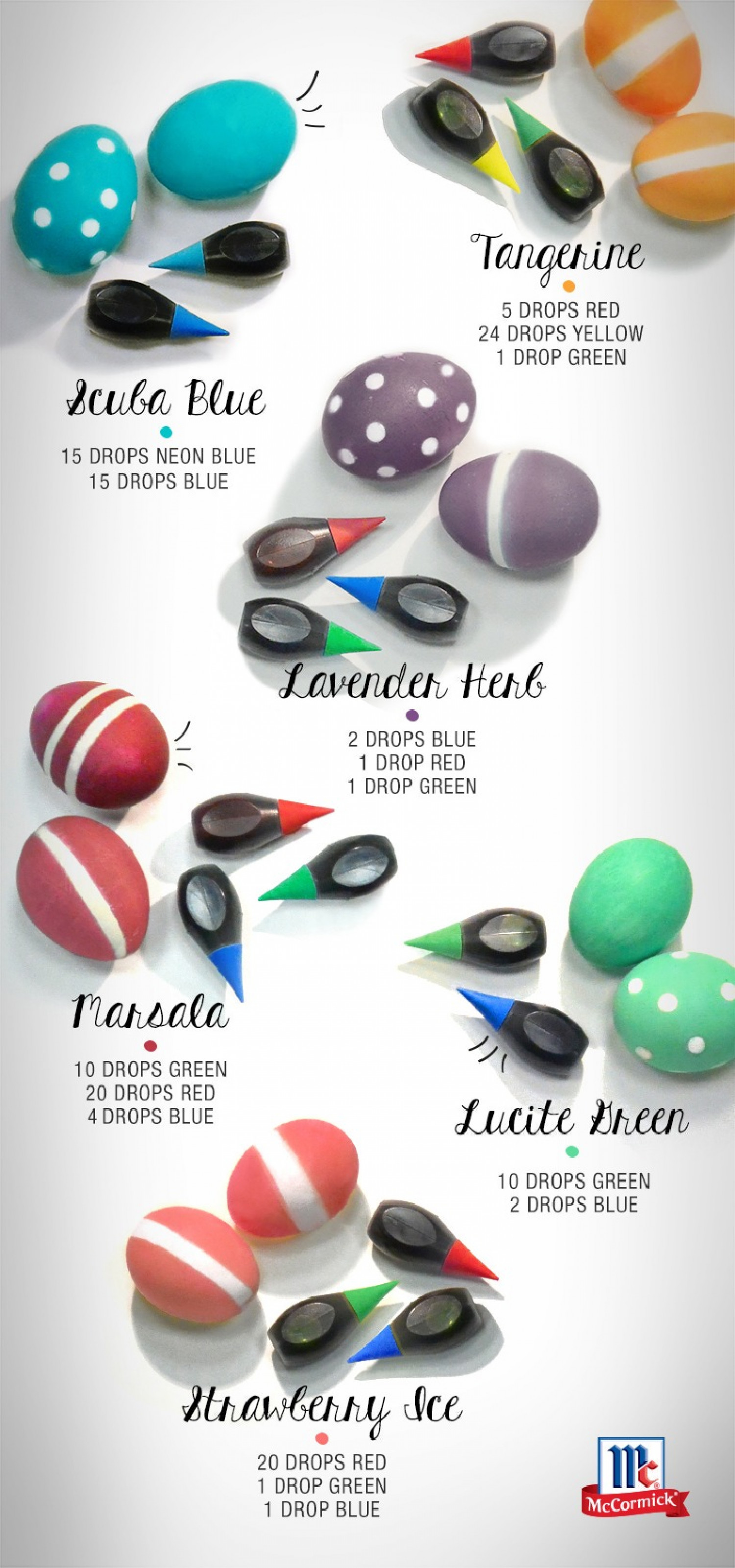 Pantone Easter Eggs Infographic