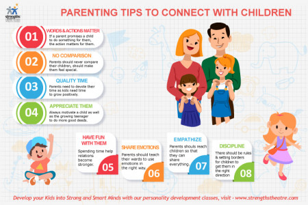 Parenting Tips to Connect with Children  Infographic