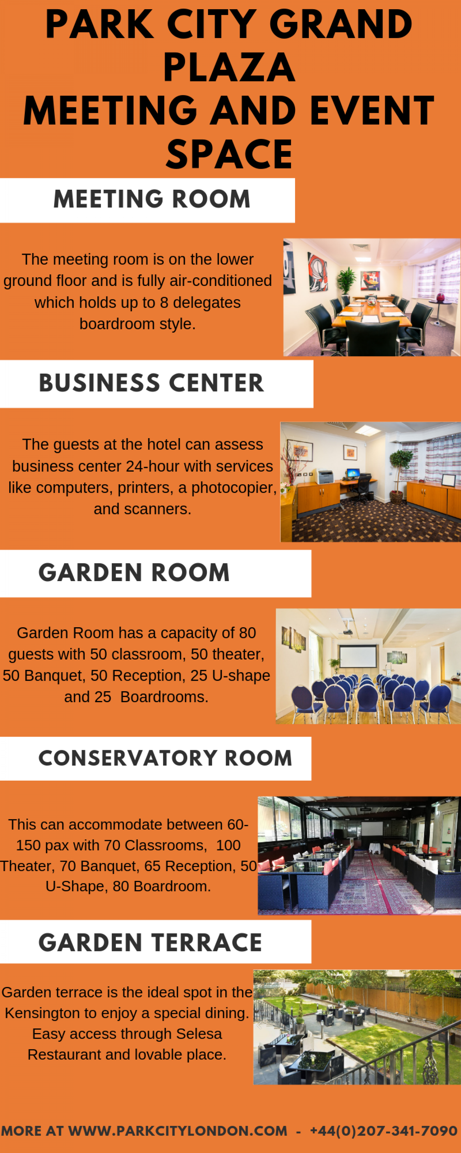 PARK CITY GRAND PLAZA - MEETING AND EVENT SPACE Infographic