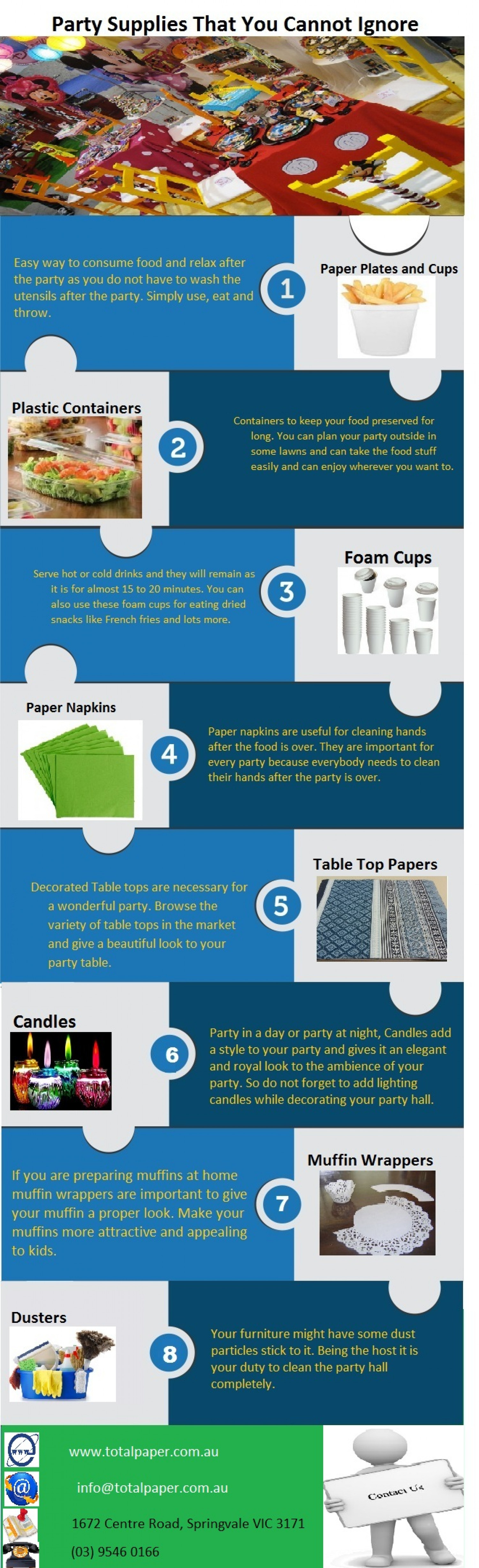 Party Supplies That You Cannot Ignore Infographic