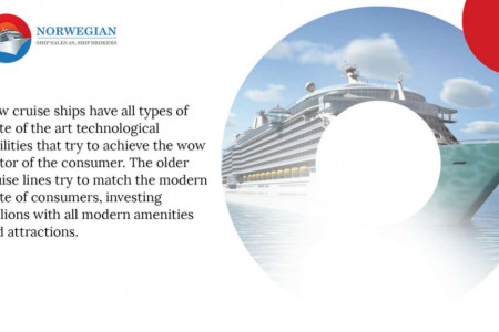 Past and Present Cruise Ships - Key Differences Infographic