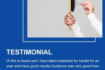 Patient Testimonial Hair Loss   Online Homeocare Infographic
