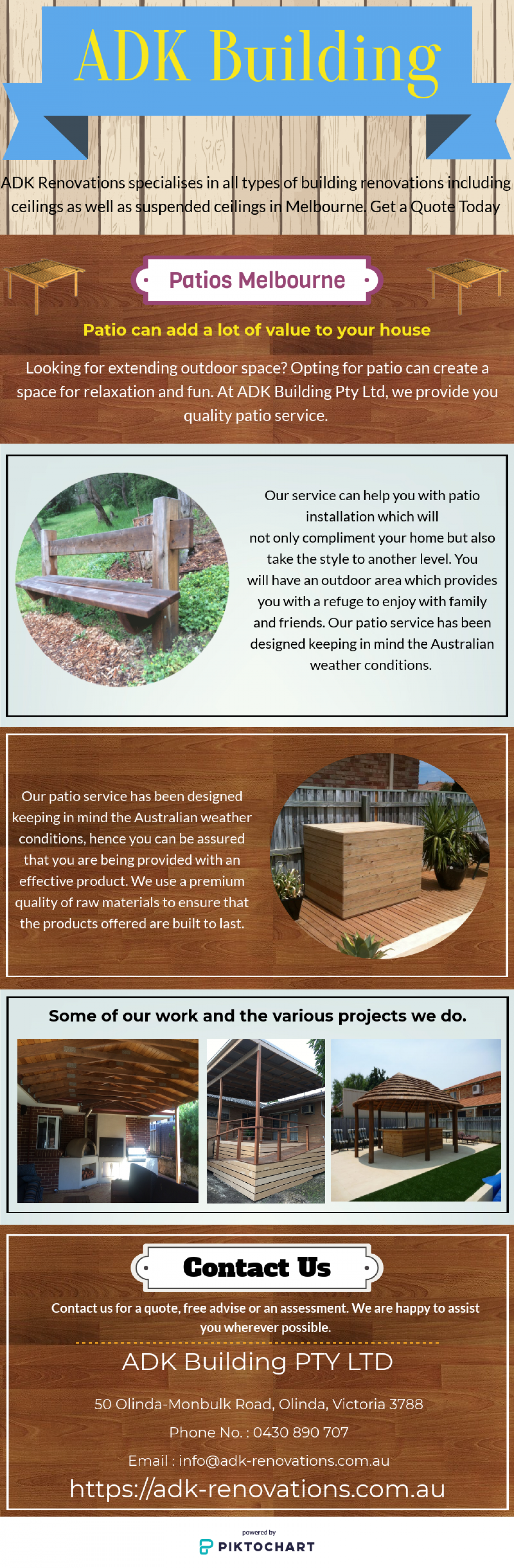 Patios Melbourne - ADK Building Infographic