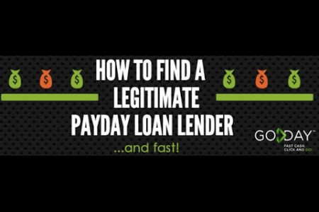 Payday Loans Online - How To Find a Legitimate Lender Infographic