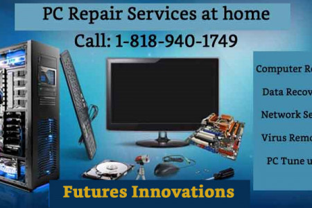 PC Repair services at home| Toll Free 1-818-940-1749 Infographic
