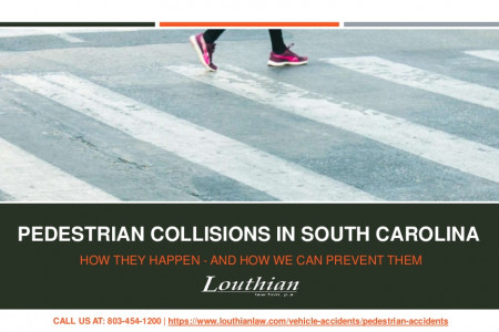 Pedestrian Collisions In South Carolina Infographic