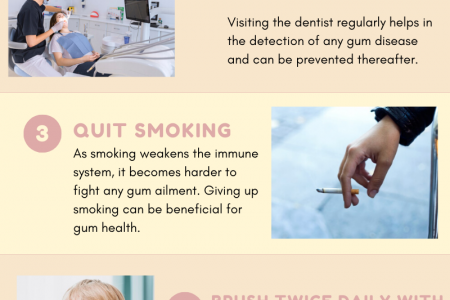 Pena Adobe Dental Care - How to keep your gums healthy? Infographic