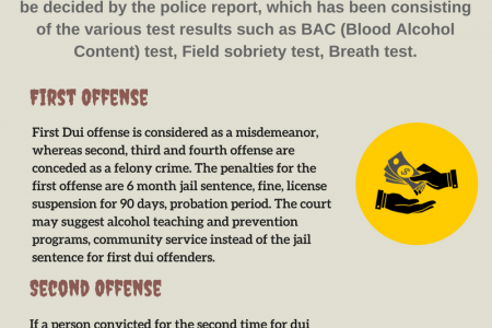 Penalties and Charge for Dui Offense Infographic
