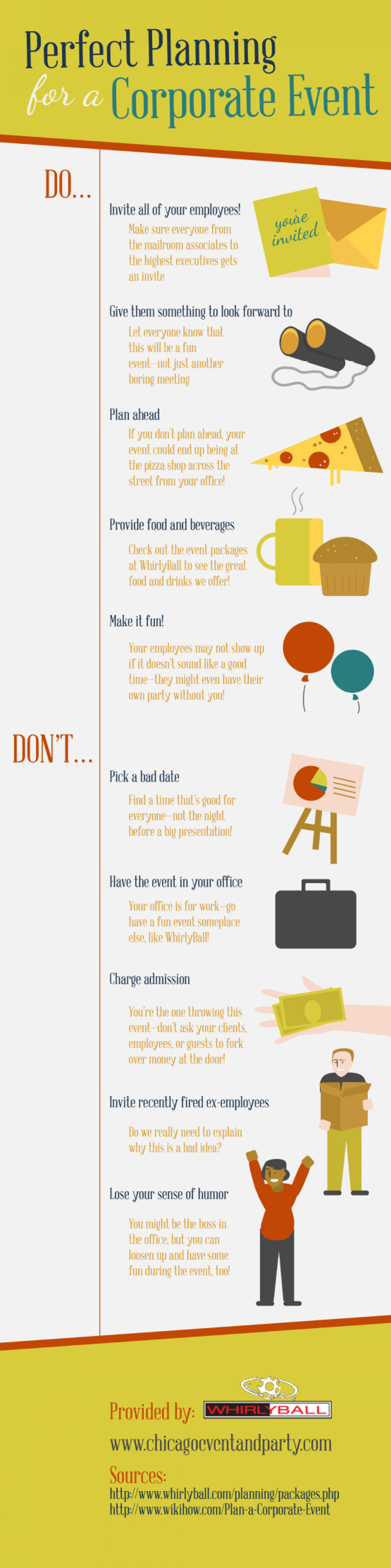 Perfect Planning for a Corporate Event Infographic