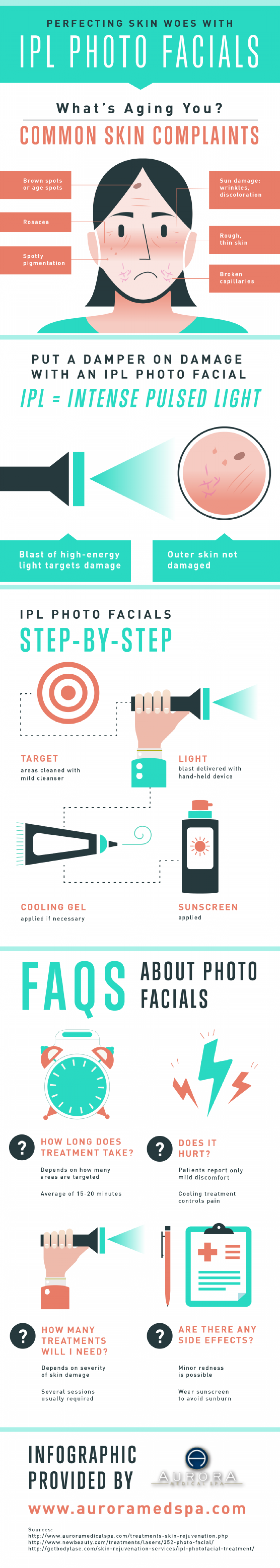 Perfecting Skin Woes with IPL Photo Facials  Infographic