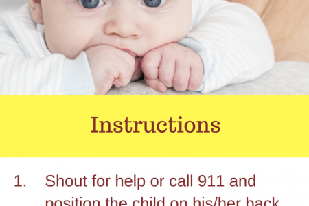 Perform CPR on an Infant Infographic