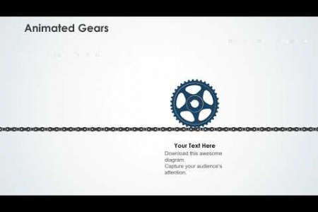 Periodic Predictive Maintenance Strategies With Gears and Icons PowerPoint Template Infographic