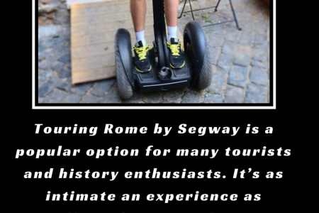 Perks of roaming around Rome on wheels. Infographic