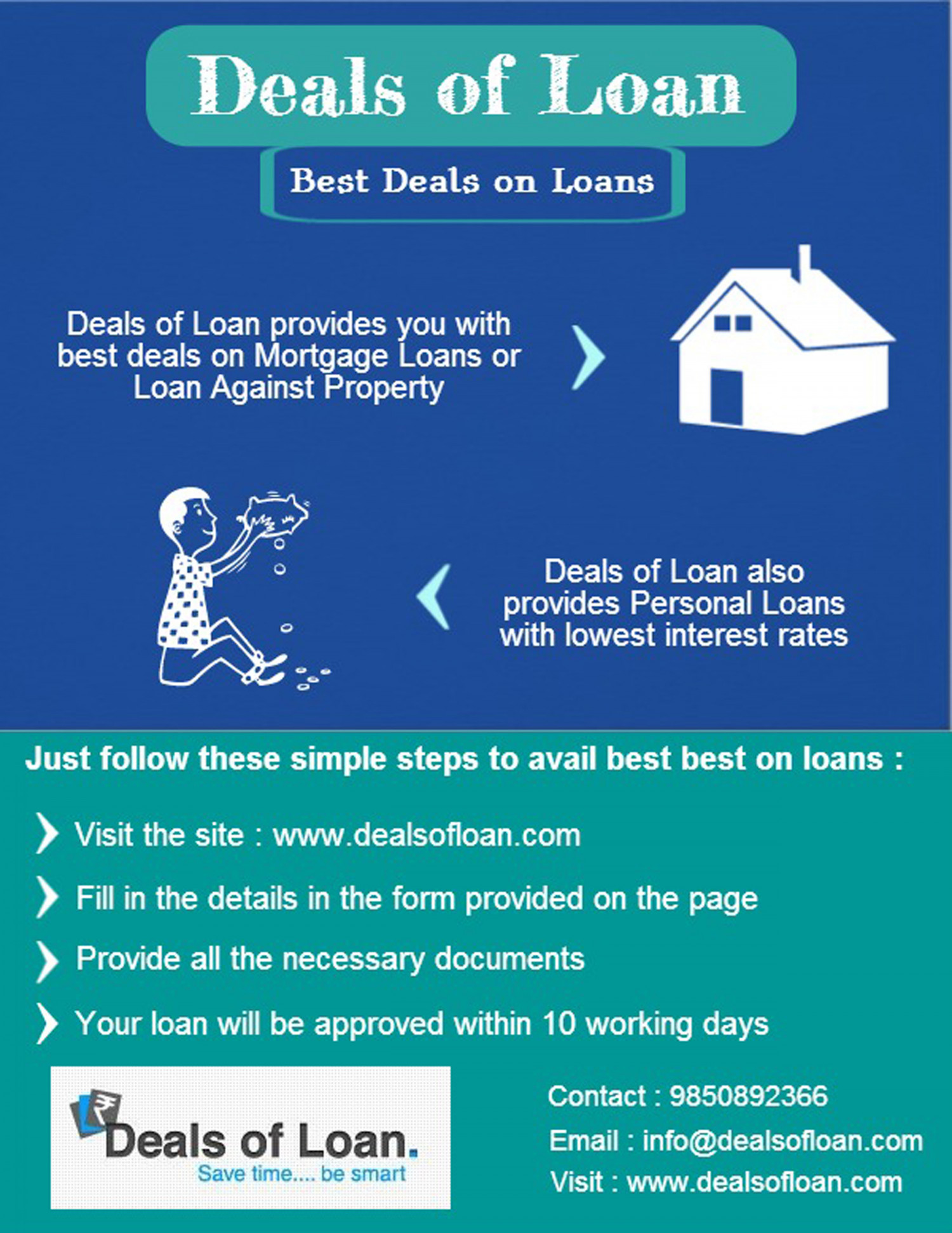 Personal and Mortgage Loans Deals - Deals of Loan Infographic