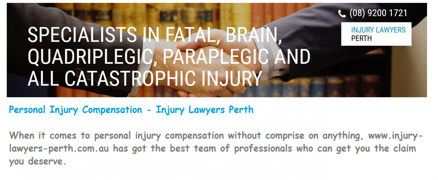 Personal Injury Compensation - Injury Lawyers Perth Infographic