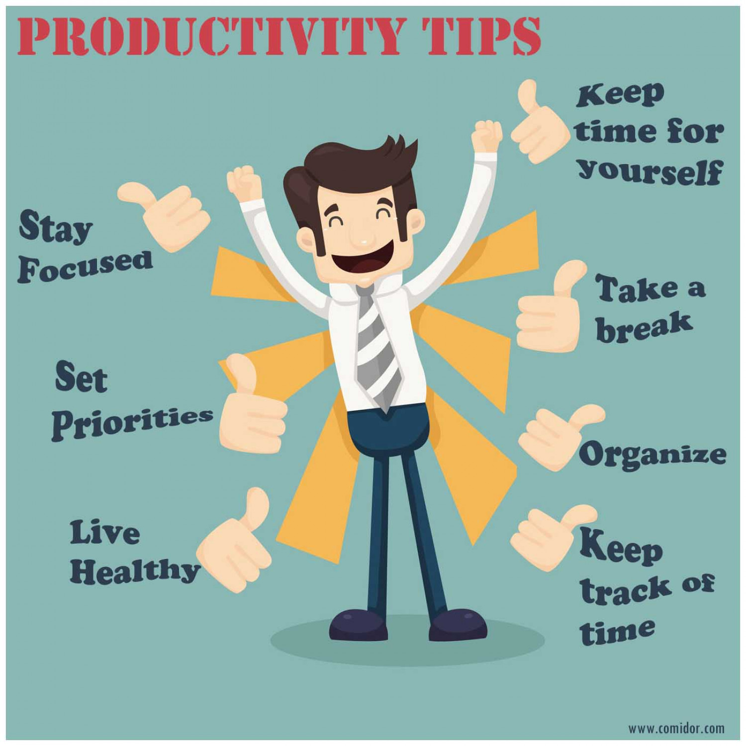 Personal Productivity Tips Infographic