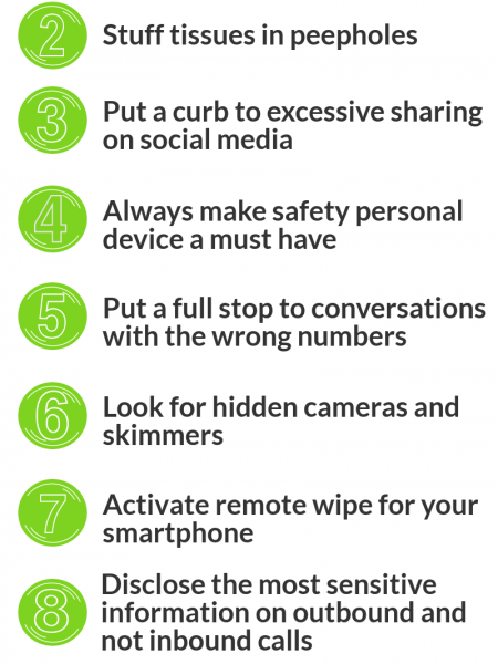 Personal Safety Tips for a Safe Life Infographic