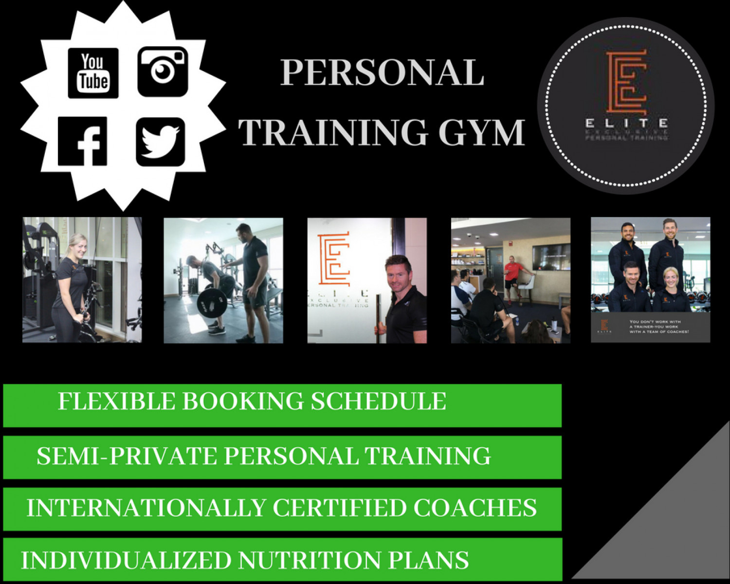 Personal Training Gyms near me Infographic